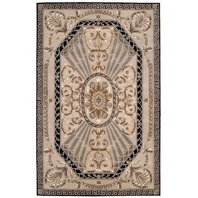 Versailles Palace Hand-Tufted Beige Area Rug Rug Size: Rectangle 36 x 56