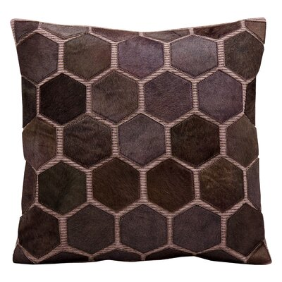 Natural Leather and Hide Leather Throw Pillow Color: Lilac