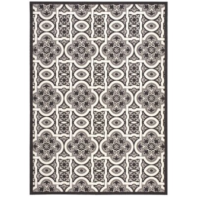 Home and Garden Black Indoor/Outdoor Area Rug