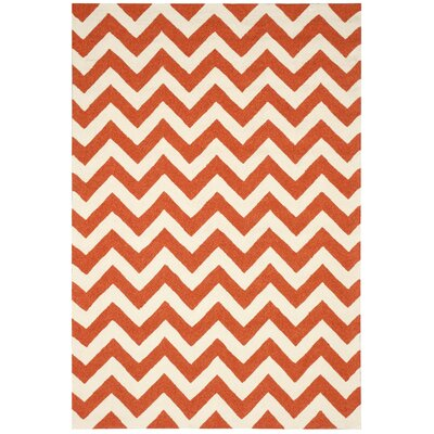 Oaknoll Orange Indoor/Outdoor Area Rug Rug Size: Rectangle 8 x 106