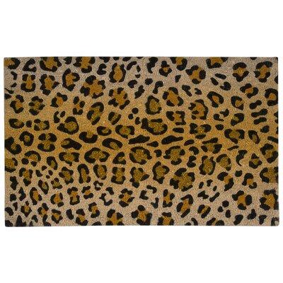 Pilchuck Leopard Coir Doormat Mat Size: 18 x 3