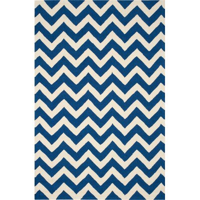 Oaknoll Navy Indoor/Outdoor Area Rug Rug Size: Rectangle 5 x 76