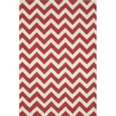 Oaknoll Red Indoor/Outdoor Area Rug Rug Size: Rectangle 5 x 76