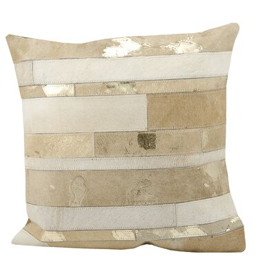 Natural Leather Throw Pillow Color: Beige