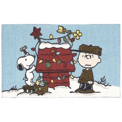 Peanuts Snoopy and Charlie Doormat