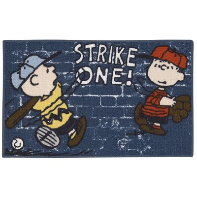 Peanuts Baseball Doormat