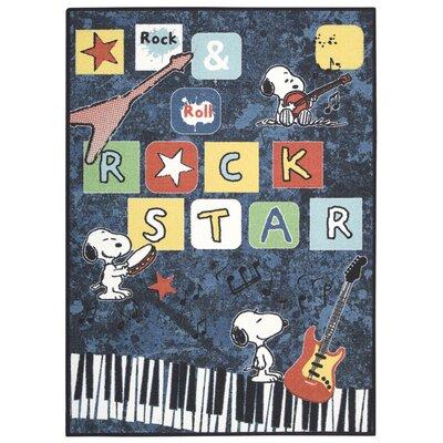 Peanuts Rock Star Doormat Rug Size: 4 x 6
