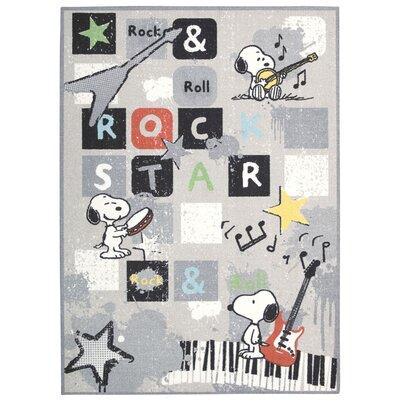 Peanuts Rock Star Doormat Rug Size: 5 x 7