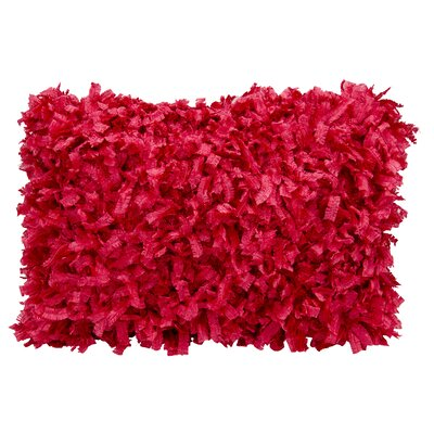 Shag Lumbar Pillow Color: Scarlet