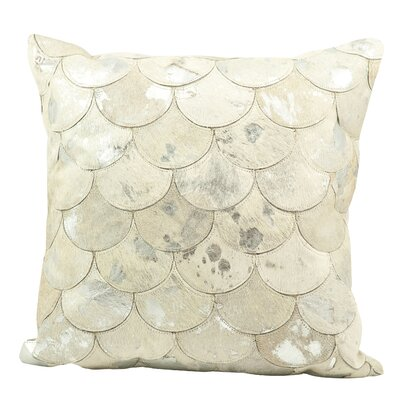 Rollinsford Leather Throw Pillow Color: White Silver