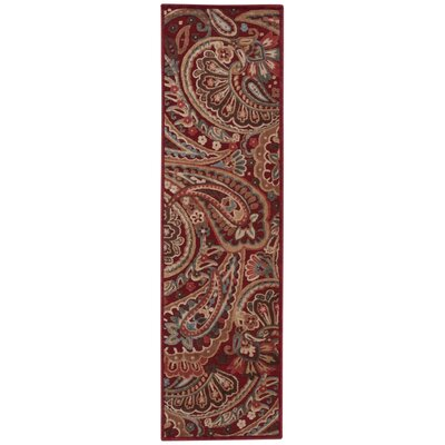 Francisca Red Paisley Area Rug Rug Size: Runner 23 x 8
