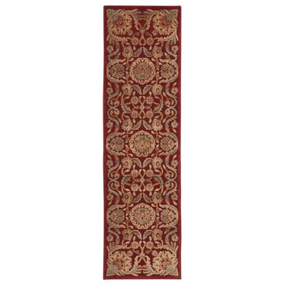 Ruckus Red Area Rug Rug Size: Runner 23 x 8