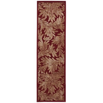 Illusions Red Area Rug Rug Size: Runner 23 x 8
