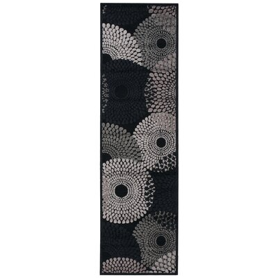 Brookview Black Area Rug Rug Size: Rectangle 53 x 75