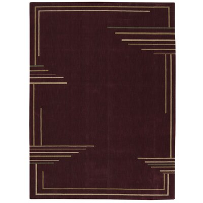 Annelise Brick Area Rug Rug Size: Rectangle 36 x 56