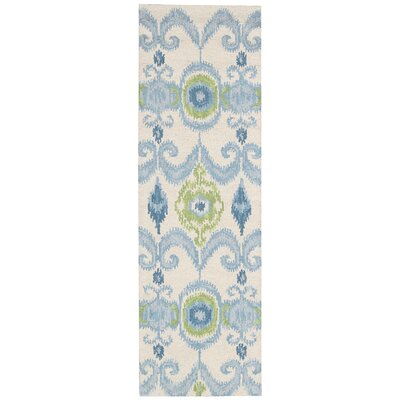 Siam Ivory Area Rug Rug Size: Runner 23 x 76