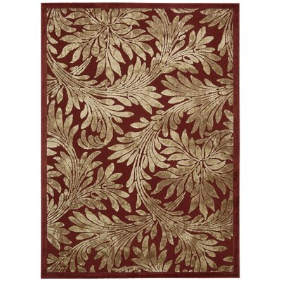 Burnham Red Area Rug Rug Size: Rectangle 53 x 75
