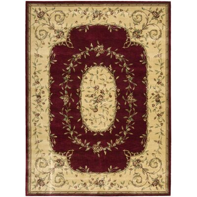 Mickinley Burgundy Area Rug Rug Size: Rectangle 56 x 75