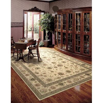 Hand Woven Wool Ivory Indoor Area Rug Rug Size: 79 x 99