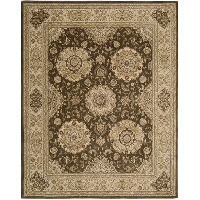 Hand Woven Wool Brown Indoor Area Rug