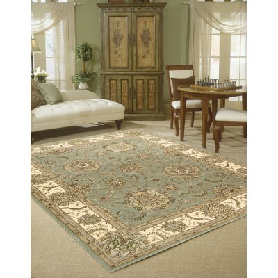 Hand Woven Wool Light Green Indoor Area Rug