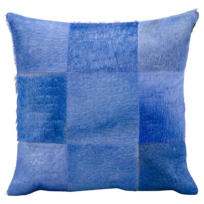 Sulphur Leather Throw Pillow Color: Ink