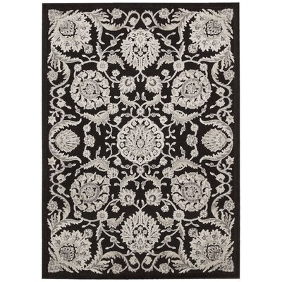 Illusions Black Area Rug Rug Size: 23 x 39