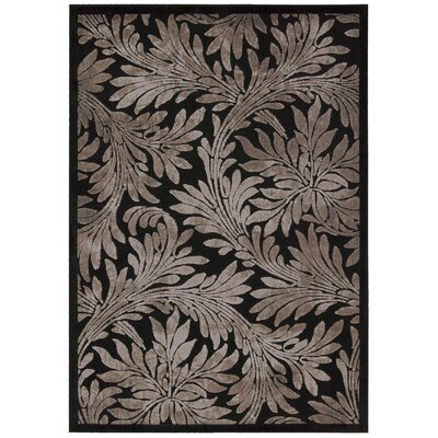Burnham Contemporary Black Area Rug Rug Size: 53 x 75