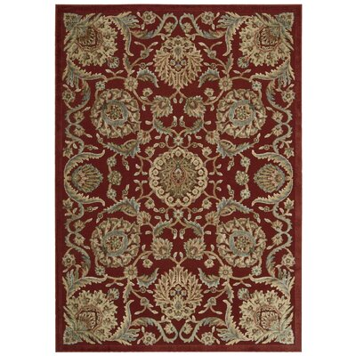 Ruckus Red Area Rug Rug Size: Rectangle 23 x 39