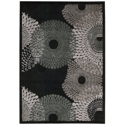 Brookview Black Area Rug Rug Size: 23 x 39