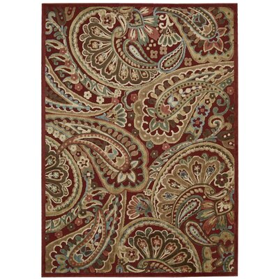 Francisca Red Paisley Area Rug Rug Size: Rectangle 53 x 75