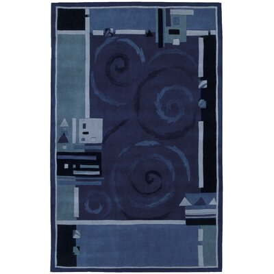 Auberon Blue Area Rug Rug Size: Rectangle 19 x 29
