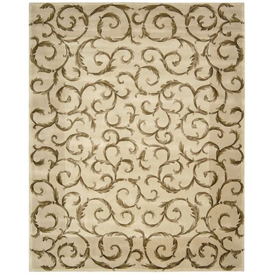 Versailles Palace Ivory Area Rug Rug Size: 36 x 56