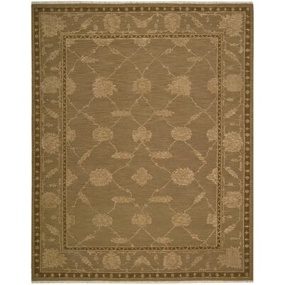 Silk Pointe Hand-Woven Brown Area Rug Rug Size: 510 x 810