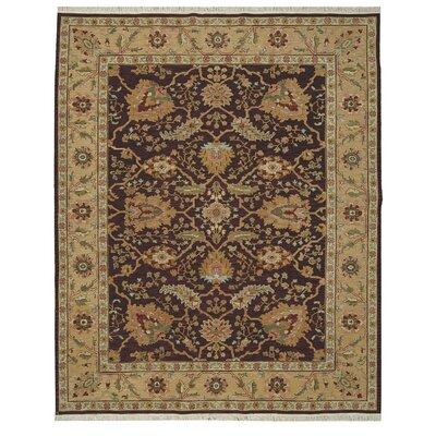 Suf I Noor Hand-Woven Burgundy Area Rug Rug Size: 510 x 810