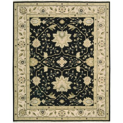 Suf I Noor Hand-Woven Black Area Rug Rug Size: 510 x 810
