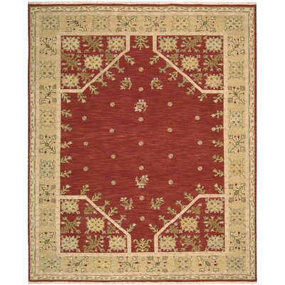 Suf I Noor Hand-Woven Red Area Rug Rug Size: 810 x 1110