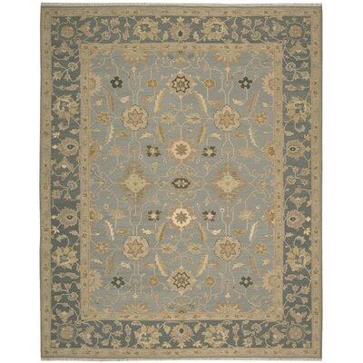 Suf I Noor Hand-Woven Light Blue Area Rug Rug Size: 510 x 810