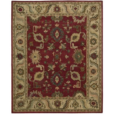 Tahoe Hand-Knotted Red Area Rug Rug Size: 79 x 99