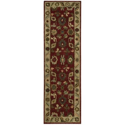 Tahoe Hand-Knotted Red Area Rug Rug Size: Runner 23 x 8
