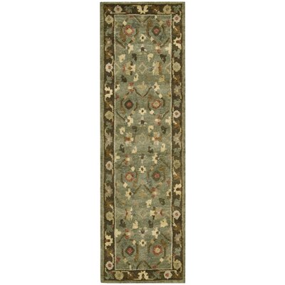 Tahoe Hand-Knotted Green Area Rug Rug Size: Runner 23 x 8