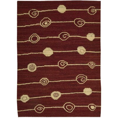 Taos Hand-Woven Red Area Rug