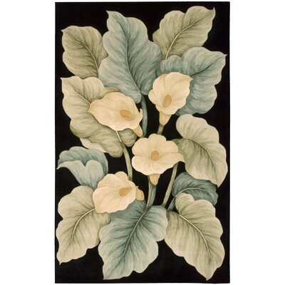 Newbury Black Novelty Area Rug Rug Size: Rectangle 76 x 96