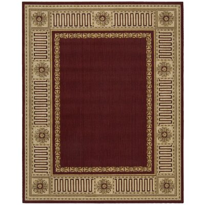 Bryn Burgundy Area Rug Rug Size: Rectangle 76 x 96