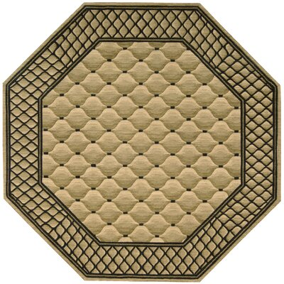 Vallencierre Beige/Black Area Rug Rug Size: Octagon 8