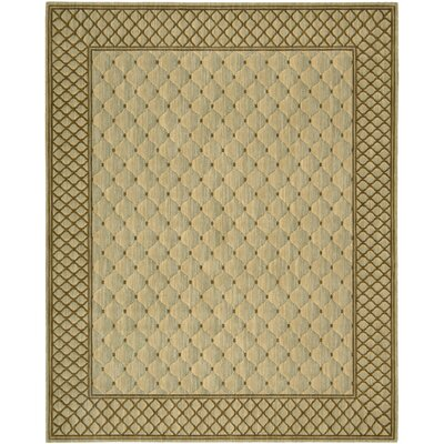 Vallencierre Beige/Brown Area Rug Rug Size: 76 x 96