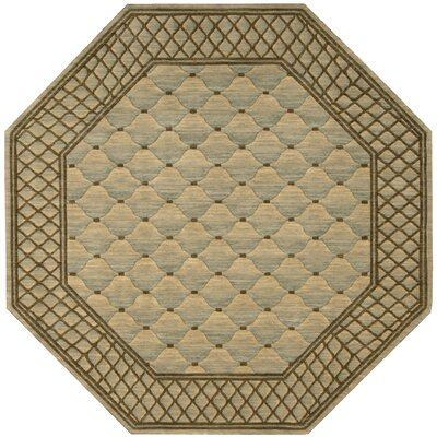 Vallencierre Beige/Brown Area Rug Rug Size: Octagon 8