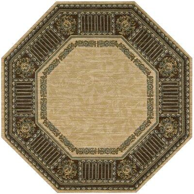 Vallencierre Beige Area Rug Rug Size: Octagon 8