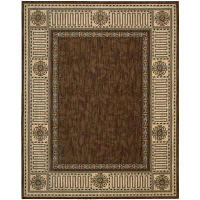 Vallencierre Brown Area Rug Rug Size: 99 x 139