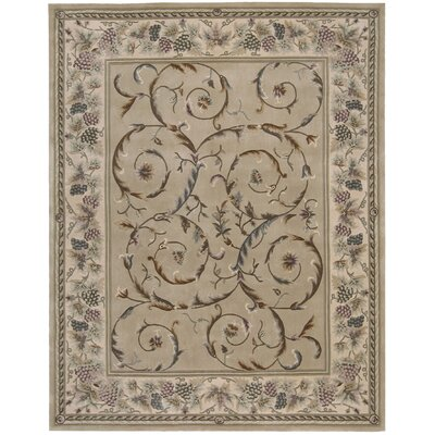 Bette Hand-Tufted Beige Area Rug Rug Size: Rectangle 36 x 56
